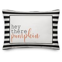 Designs Direct Halloween Hey There Pumpkin Stripes Oblong Pillow