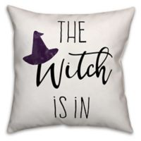 Designs Direct Halloween The Witch Is In Square Pillow