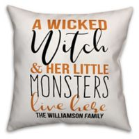 Designs Direct Halloween Wicked Witch Little Monsters Square Pillow