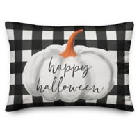 Designs Direct Happy Haunting Buffalo Check Pillow
