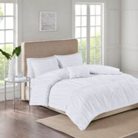 Ciera 4-Piece King Comforter Set in White