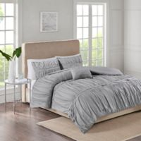 Ciera 4-Piece King Comforter Set in Grey