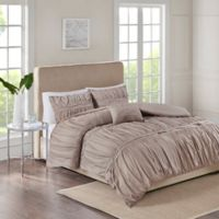 Ciera 4-Piece King Comforter Set in Taupe