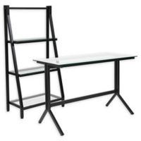 Flash Furniture 2-Piece Office Set in Clear/Black