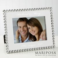 Mariposa® String of Pearls 5-Inch x 7-Inch Anniversary Picture Frame