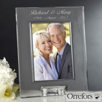 Orrefors 5-Inch x 7-Inch Crystal Anniversary Picture Frame