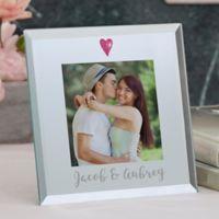 Romantic Heart 3-Inch Square Mirror Picture Frame