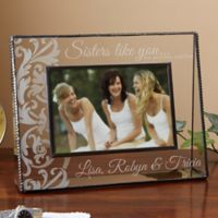 Sisters Like You 4-Inch x 6-Inch Glass Picture Frame