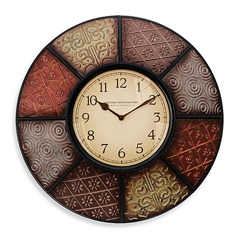 FirsTime® Manufacturing Patchwork Wall Clock