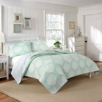Laura Ashley® Coral Coast Full/Queen Quilt Set in Aqua