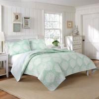Laura Ashley® Coral Coast Twin Quilt Set in Aqua