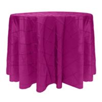 Bombay 60-Inch Round Tablecloth in Raspberry