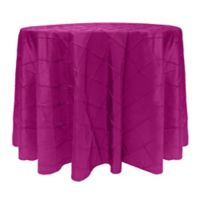 Bombay 72-Inch Round Tablecloth in Raspberry
