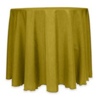Majestic 60-Inch Round Reversible Shantung Satin Tablecloth in Acid Green
