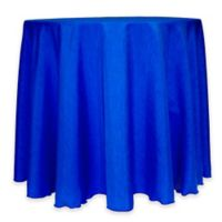 Majestic 60-Inch Round Reversible Shantung Satin Tablecloth in Royal Blue