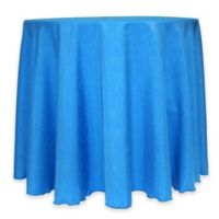 Majestic 60-Inch Round Reversible Shantung Satin Tablecloth in Cobalt