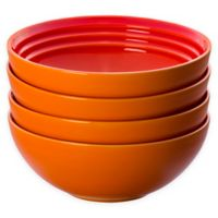 Le Creuset® Soup/Cereal Bowls in Flame (Set of 4)