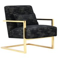 Chic Home Microfiber Upholstered Abstract Chair in Black
