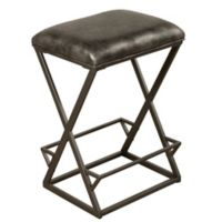 "Hillsdale Furniture Metal Upholstered Kenwell 30"" Bar Stool in Charcoal"