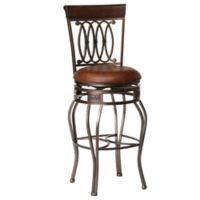 "Hillsdale Furniture Vinyl Swivel Montello 43"" Bar Stool in Steel"