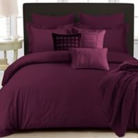 Tribeca Living 350-Thread-Count Cotton Percale Duvet Cover Set