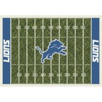 NFL Detroit Lions 7-Foot 8-Inch x 10-Foot 9-Inch Large Home Field Rug