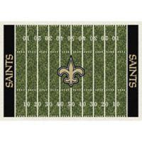 NFL New Orleans Saints 5-Foot 4-Inch x 7-Foot 8-Inch Medium Home Field Rug
