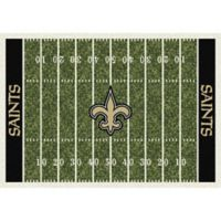 NFL New Orleans Saints 7-Foot 8-Inch x 10-Foot 9-Inch Large Home Field Rug