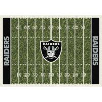 NFL Oakland Raiders 5-Foot 4-Inch x 7-Foot 8-Inch Medium Home Field Rug
