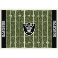 NFL Oakland Raiders 7-Foot 8-Inch x 10-Foot 9-Inch Large Home Field Rug