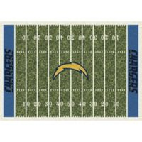 NFL San Diego Chargers 7-Foot 8-Inch x 10-Foot 9-Inch Large Home Field Rug