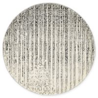 Unique Loom Jennifer Del Mar 3' Round Powerloomed Area Rug in Gray