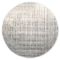 Unique Loom Jennifer Del Mar 6' Round Powerloomed Area Rug in Gray