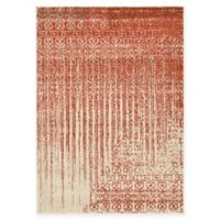 Unique Loom Jennifer Del Mar 4' X 6' Powerloomed Area Rug in Red