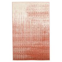 Unique Loom Jennifer Del Mar 5' X 8' Powerloomed Area Rug in Red