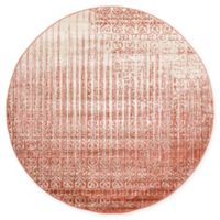 Unique Loom Jennifer Del Mar 6' Round Powerloomed Area Rug in Red