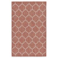 Unique Loom Outdoor Trellis 5' X 8' Powerloomed Area Rug in Rust Red