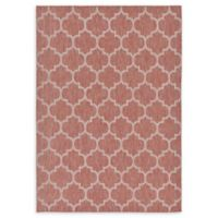 Unique Loom Outdoor Trellis 7' X 10' Powerloomed Area Rug in Rust Red