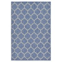Unique Loom Outdoor Trellis 6' X 9' Powerloomed Area Rug in Blue