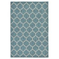 Unique Loom Outdoor Trellis 6' X 9' Powerloomed Area Rug in Teal
