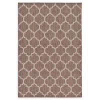 Unique Loom Outdoor Trellis 6' X 9' Powerloomed Area Rug in Brown
