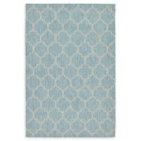 Unique Loom Outdoor Trellis 6' X 9' Powerloomed Area Rug in Aquamarine