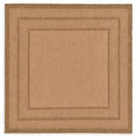 Unique Loom Multi Border Outdoor 6' X 6' Powerloomed Area Rug in Light Brown