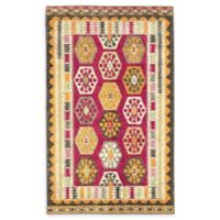 "Unique Loom Native Sedona 3'3"" X 5'3"" Powerloomed Area Rug in Red"