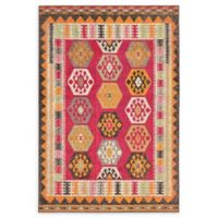 Unique Loom Native Sedona 4' X 6' Powerloomed Area Rug in Red