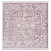 Unique Loom Olympia Arcadia 4' X 4' Powerloomed Area Rug in Purple