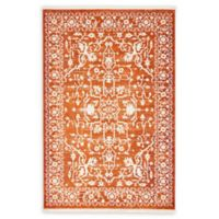 Unique Loom Olympia Arcadia 4' X 6' Powerloomed Area Rug in Terracotta