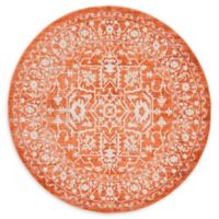Unique Loom Olympia Arcadia 6' Round Powerloomed Area Rug in Terracotta