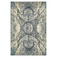 Unique Loom Munch Arte 4' X 6' Powerloomed Area Rug in Blue