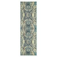 "Unique Loom Munch Arte 6'7"" Runner Powerloomed in Blue"